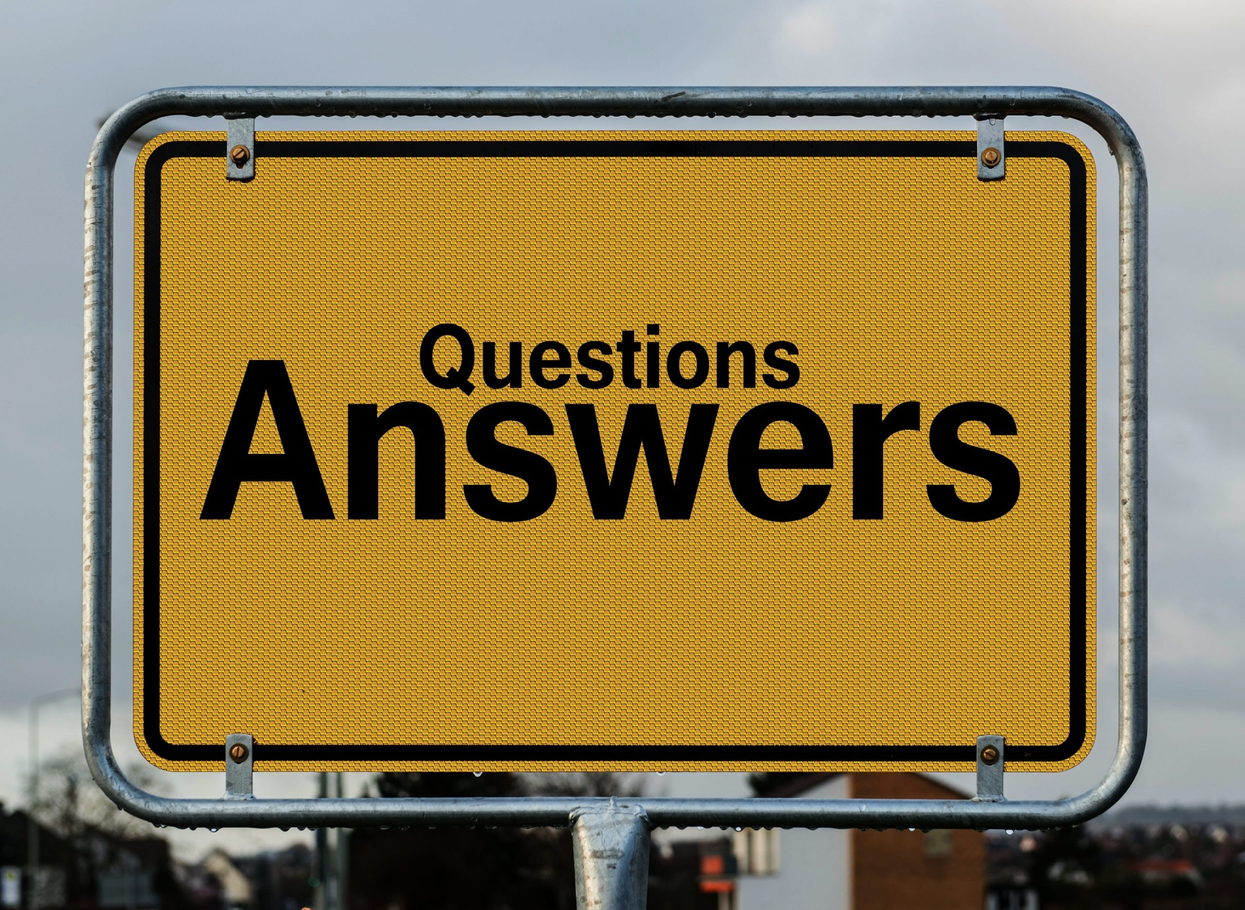 Questions answers sign